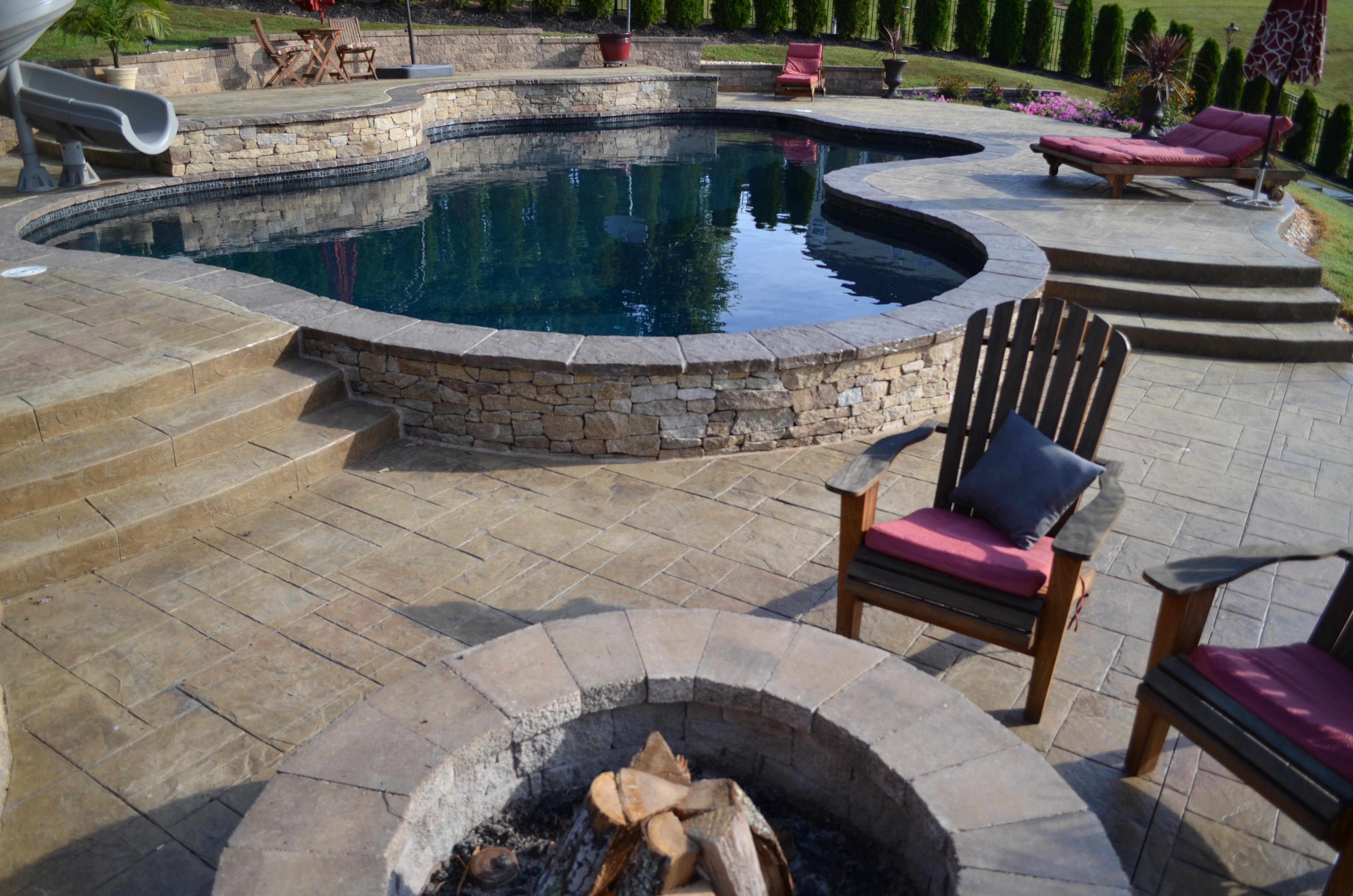 Swimming Pool Pavilion And Fire Pit The Pool Company
