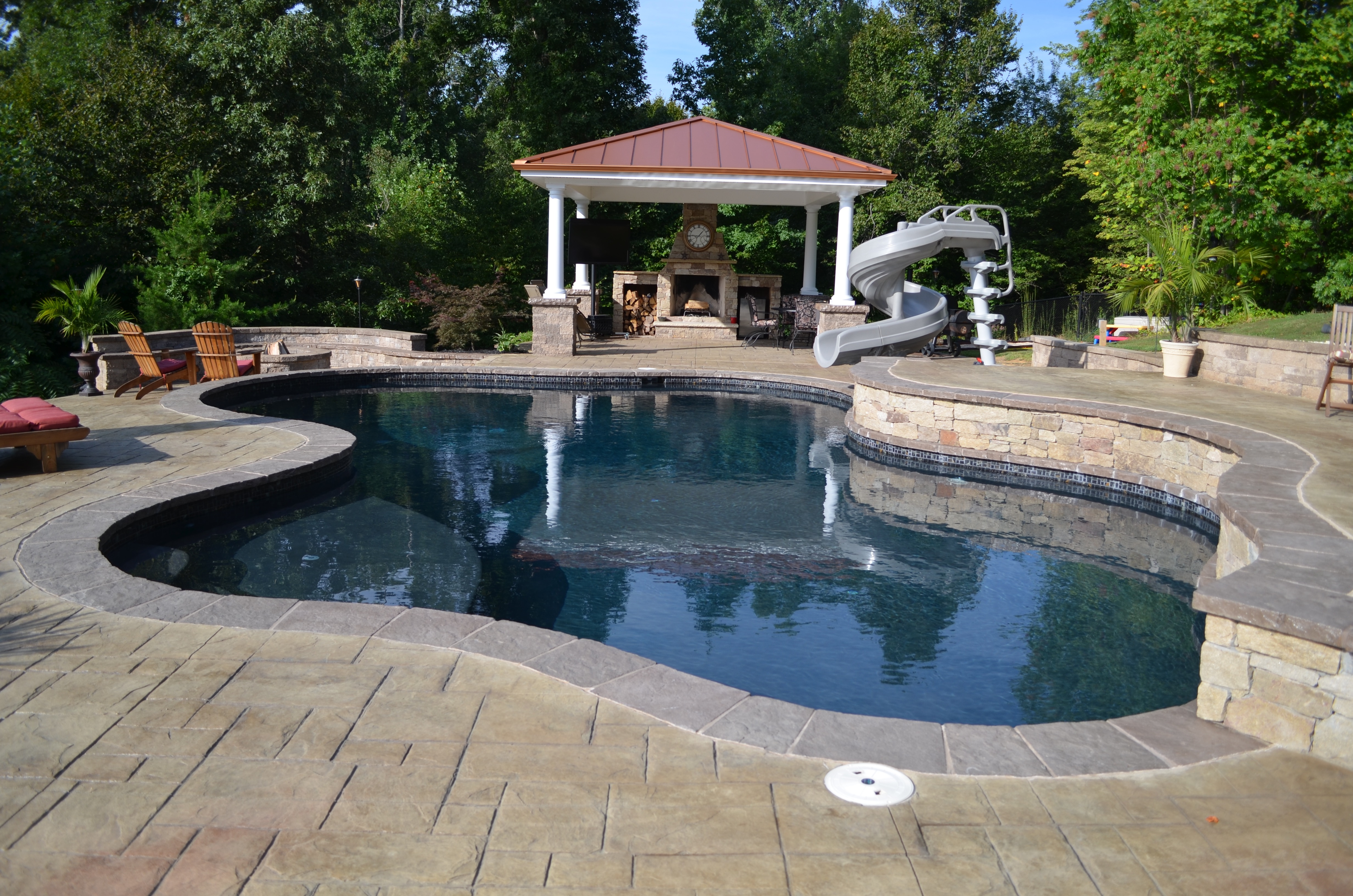 Swimming Pool Pavilion and Fire Pit