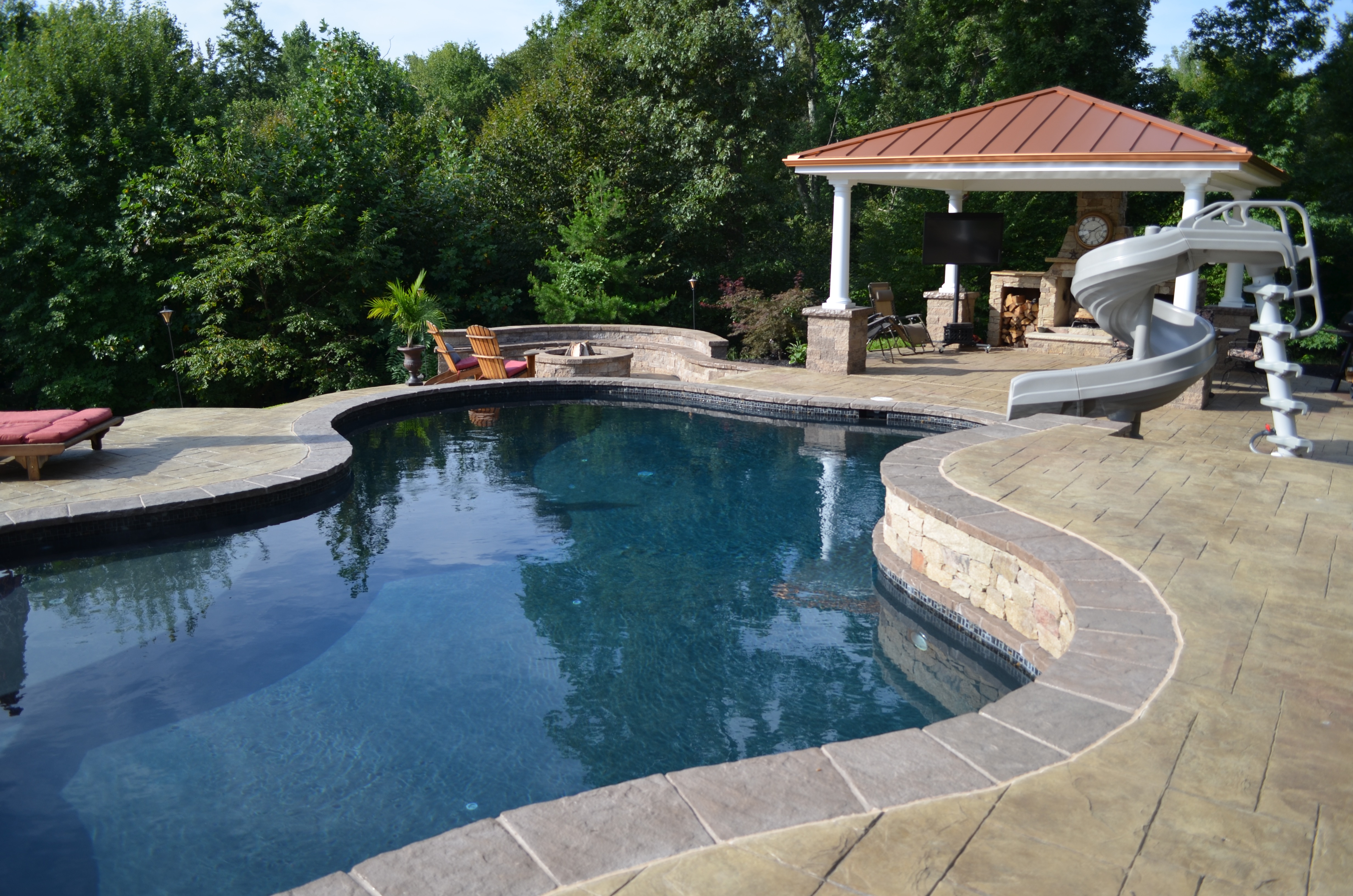Swimming Pool Pavilion & Fire Pit