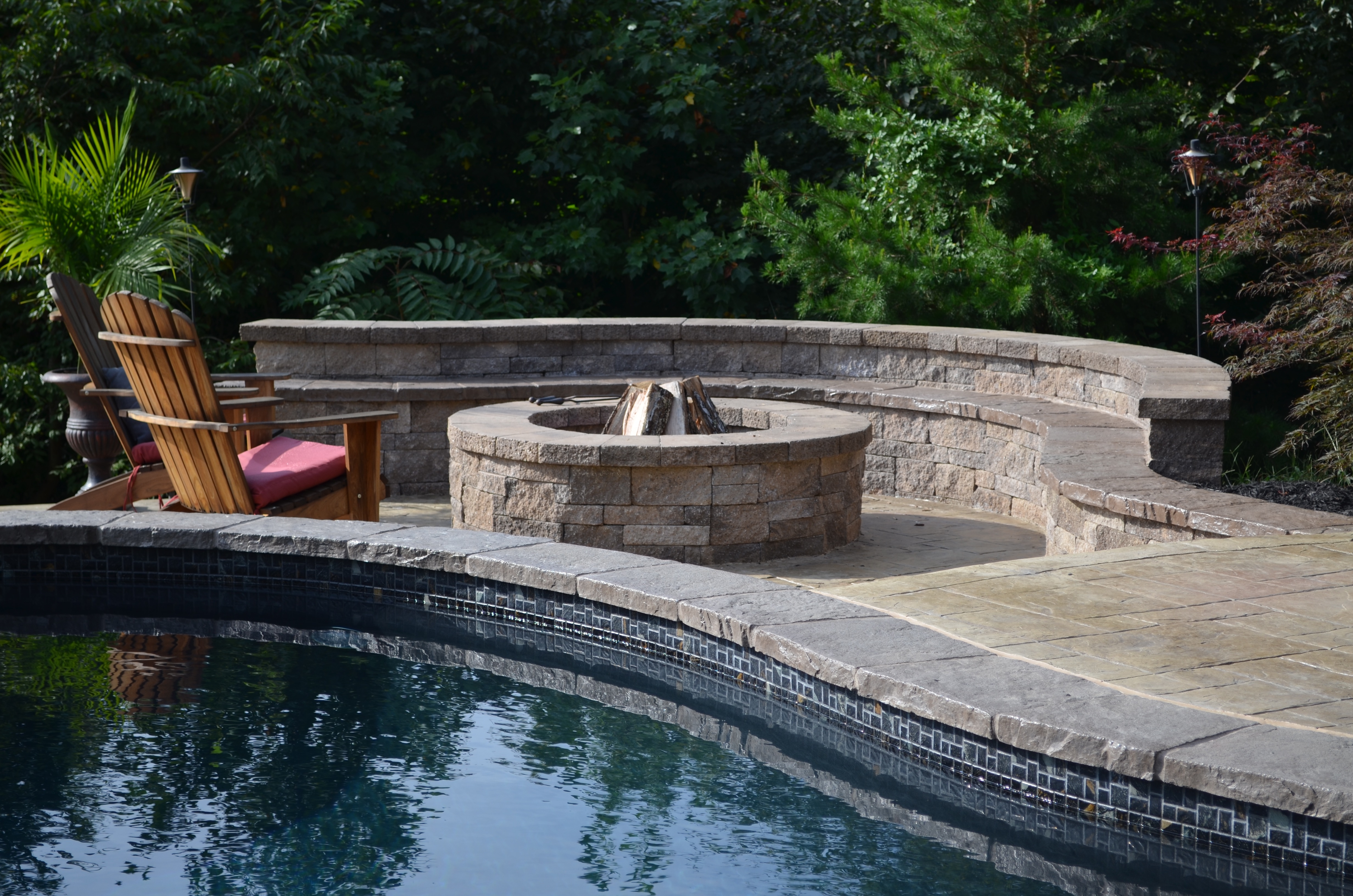 Fire Pit Swimming Pool