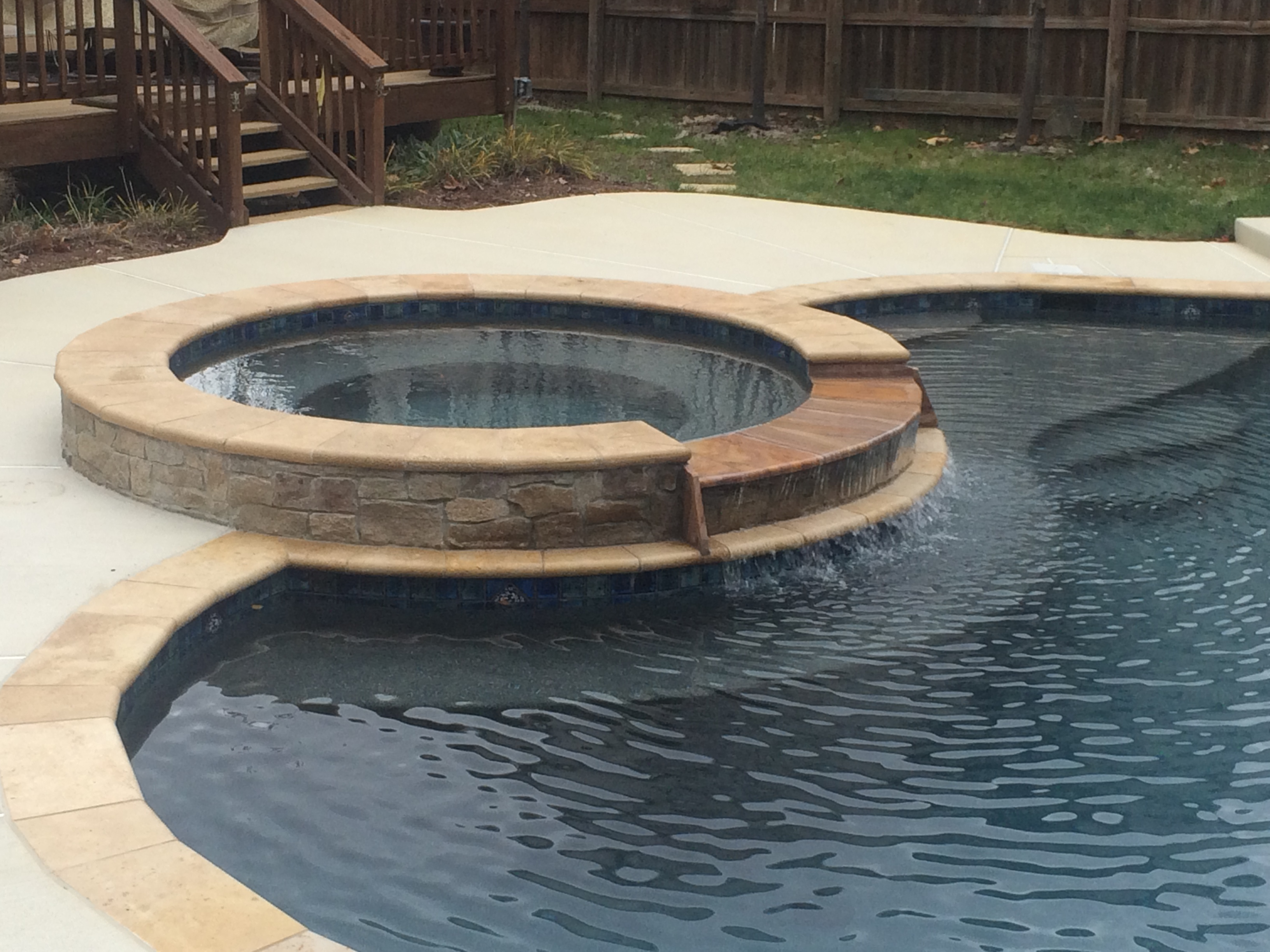 Swimming pool spa project