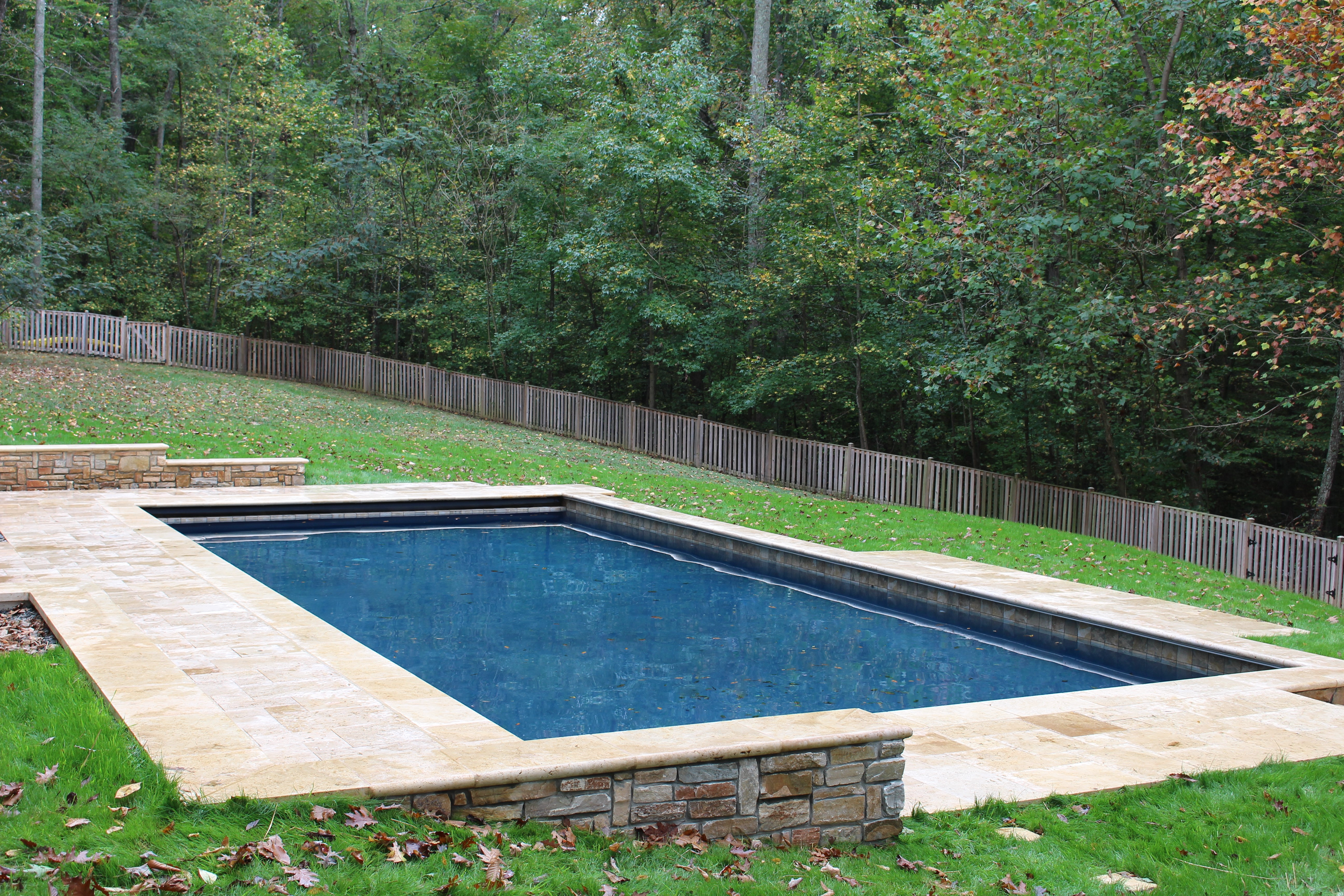 Pool Cover Construction : River bend automatic pool cover project the company