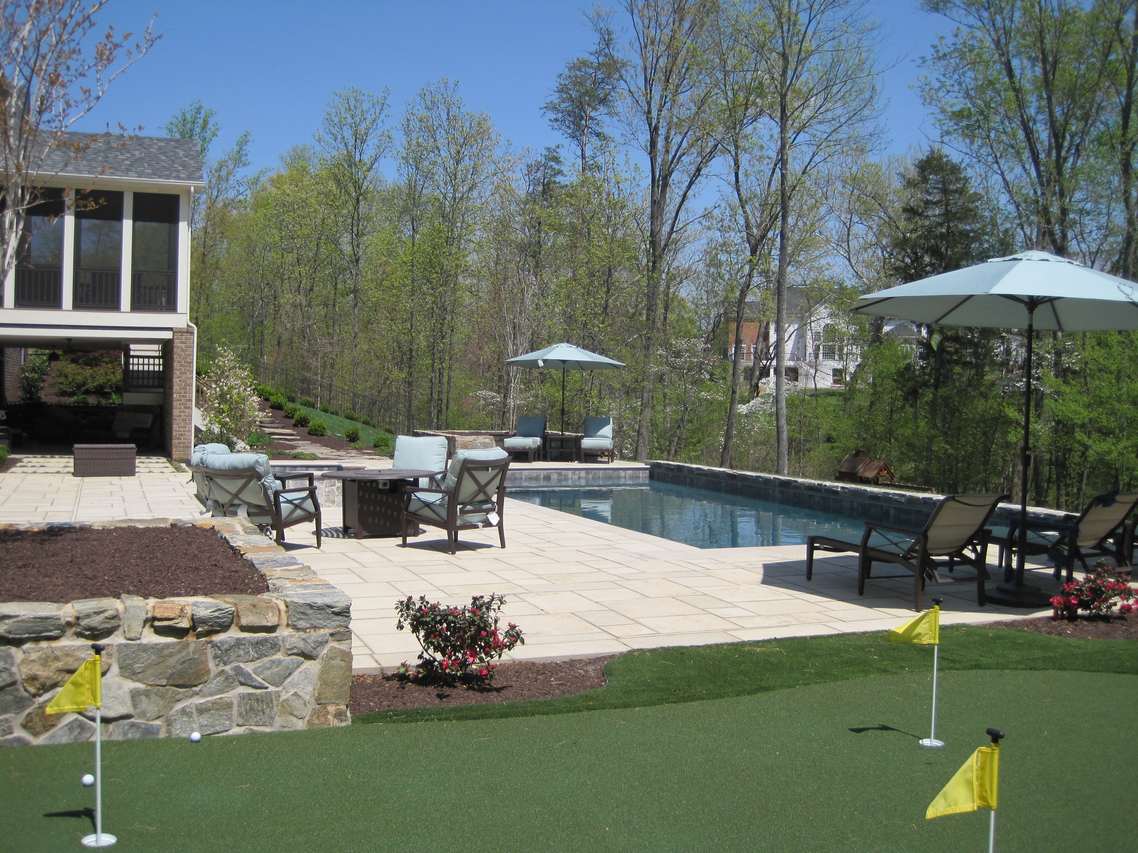 Classic Swimming Pool With Old World Feel The Pool Company Construction