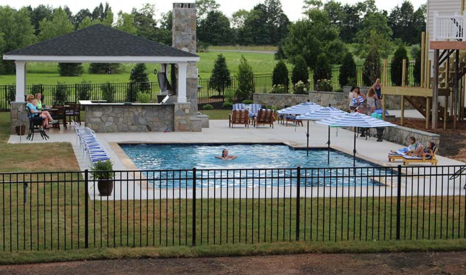 Swimming pool project Fredericksburg VA