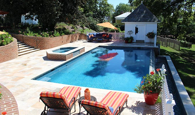 Spotsylvania custom swimming pool