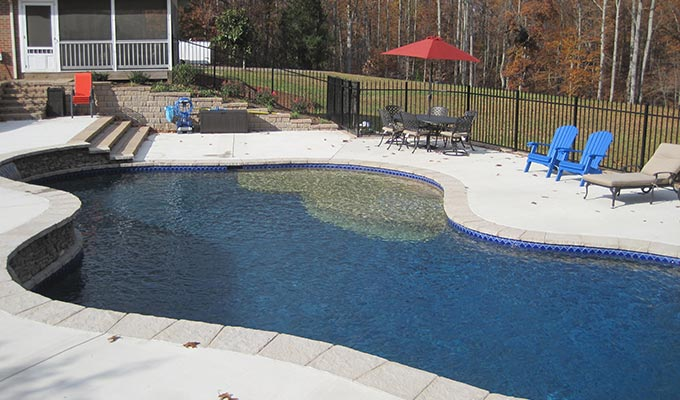 Custom swimming pool designs in loudoun county the pool for Pool design virginia