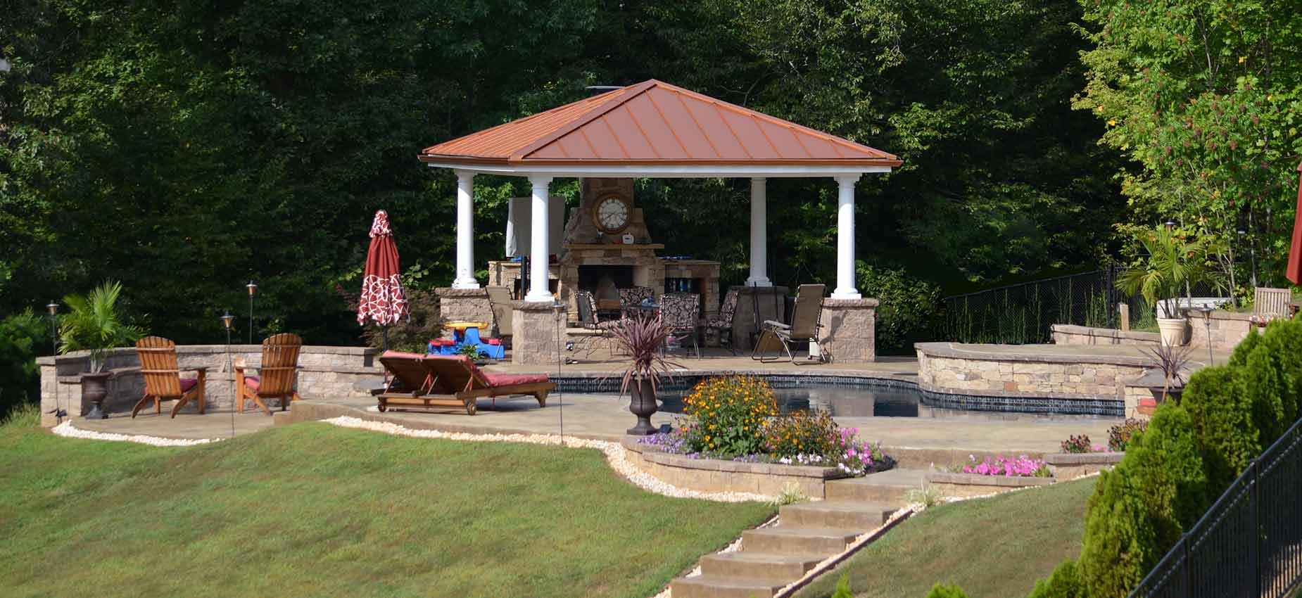 A great backyard inground swimming pool