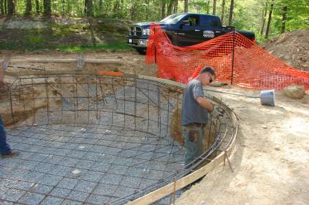 Swimming Pool Construction in process